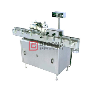 Automated sticker labelling machine for round glass bottle / PET bottle