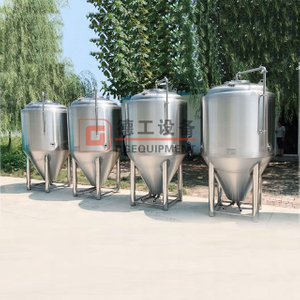 10HL/20HL beer brewery equipment brewhouse with steam heating fermenter with double wall for sale