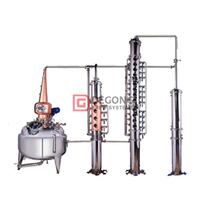 800L Red Copper Gin still Distillation Equipment Column Customized Beer Manufacturing Plant