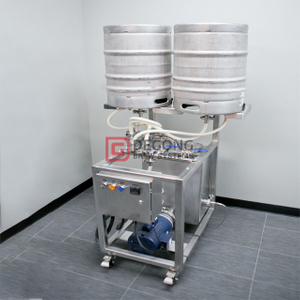 Two-Station/ Single Station Commercial Stainless Steel Manual Keg Washer Machine for Sale