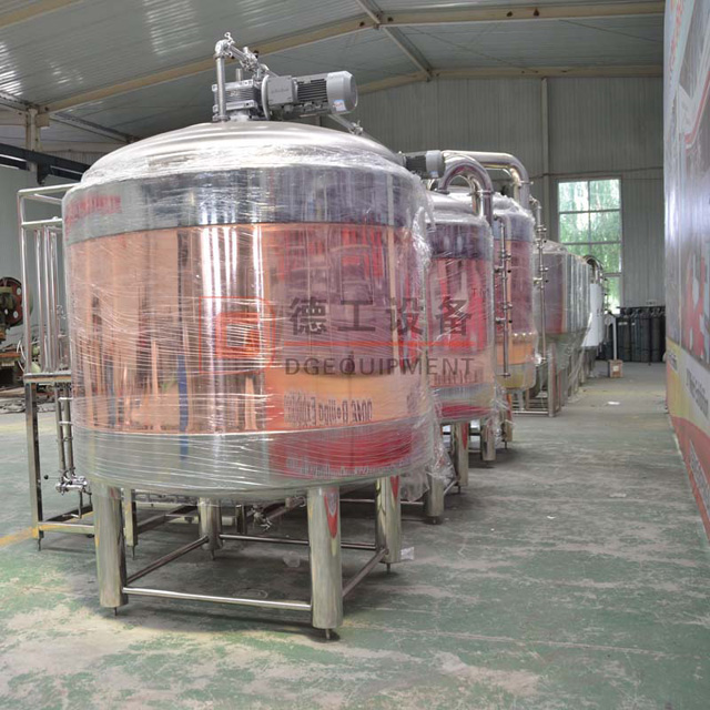 2000L Restaurant Used Red Copper Commercial 3 Vessels Beer Brewhouse Brewing Equipment for Sale