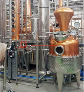500L Craft Commercial Red Copper Gin Whisky Distillation Equipment for Sale Suppliers Near Me