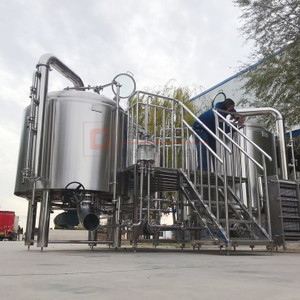 10HL Commercial Used Brewery System Combined Steam Heated 2-Vessels SS304 Beer Brewhouse for Sale
