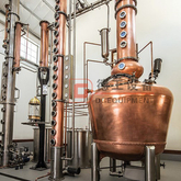 500L Alcohol Distillation equipment industrial distillation column vodka/gin/brandy still machine