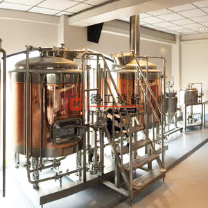 500L Customized two/three/four container steam heated beer mashing system brewery line for sale