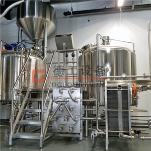 Complete Commercial Used 5BBL 7BBL 10BBL Brewing System Plant Steam Heated 3 Tanks Beer Brewhouse