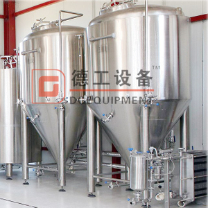 500L Equipment for Craft Breweries of Stainless Steel 304 Customized Commercial Double Jacket Fermentation Tank