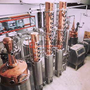 Vodka Whiskey Gin Large scale industrial grade 2000 litres+ distillation equipment Spirit distillery for sale