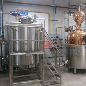 craft distillery 1000L CE approved red copper distiller for whisky Distillation distillery equipment alcohol
