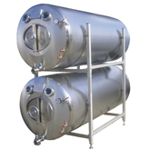 Buy A 2000L SUS 304 Vertical/horizontal Double Layer Beer Bright Beer Tank for Beer Serving And aging