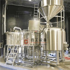 1000L Beer Brewery Equipment PID Control SS304 2 Vessel Brewhouse