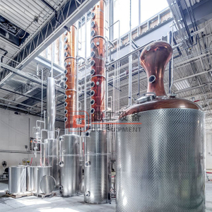 100-500 Gallons Red copper alcohol making machine still vodka distillery equipment for sale
